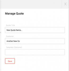 Add quote form